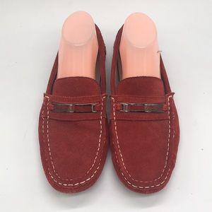 Calvin Klein Red Suede Driving Shoe Slipons Daimon